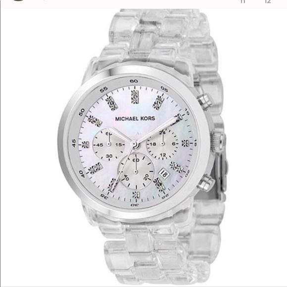 MK Michael Kors Acrylic Watch